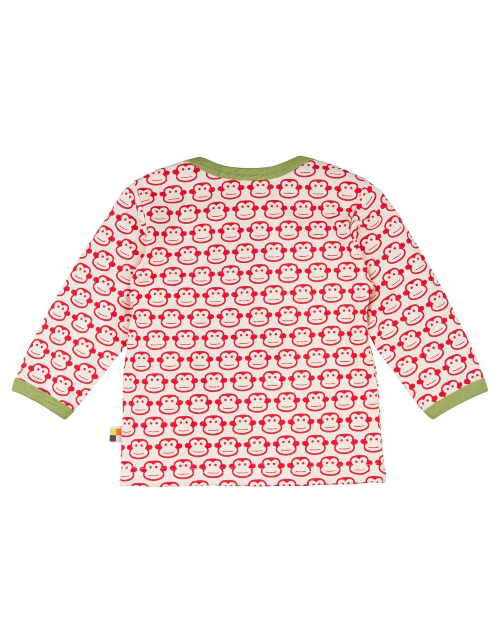 loud+proud Kindershirt - rode aapjes