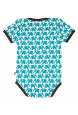 loud+proud Romper - korte mouw - blauwe olifanten