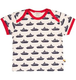 loud+proud Kids t-shirt - blue boats