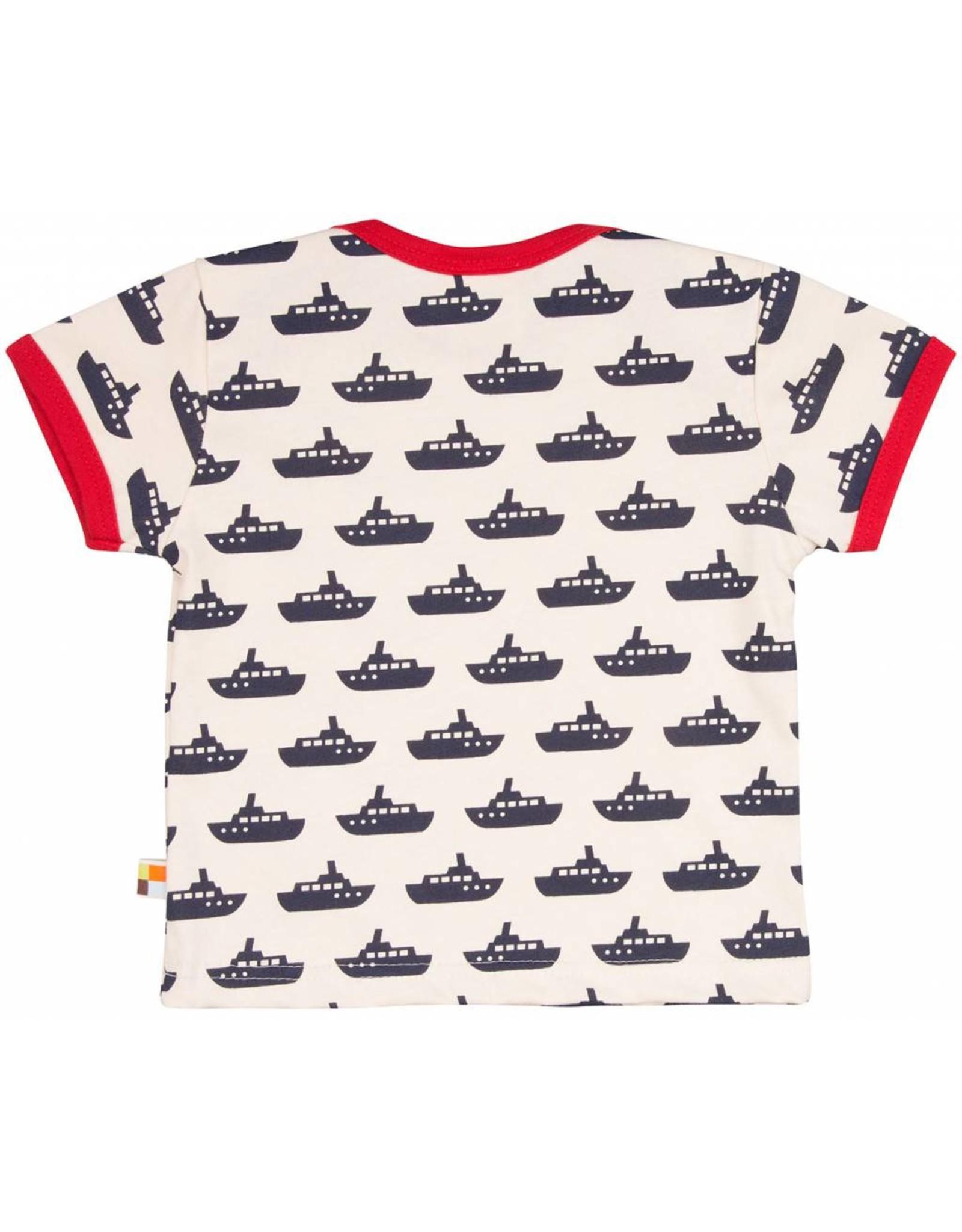 loud+proud Kinder t-shirt - blauwe boten