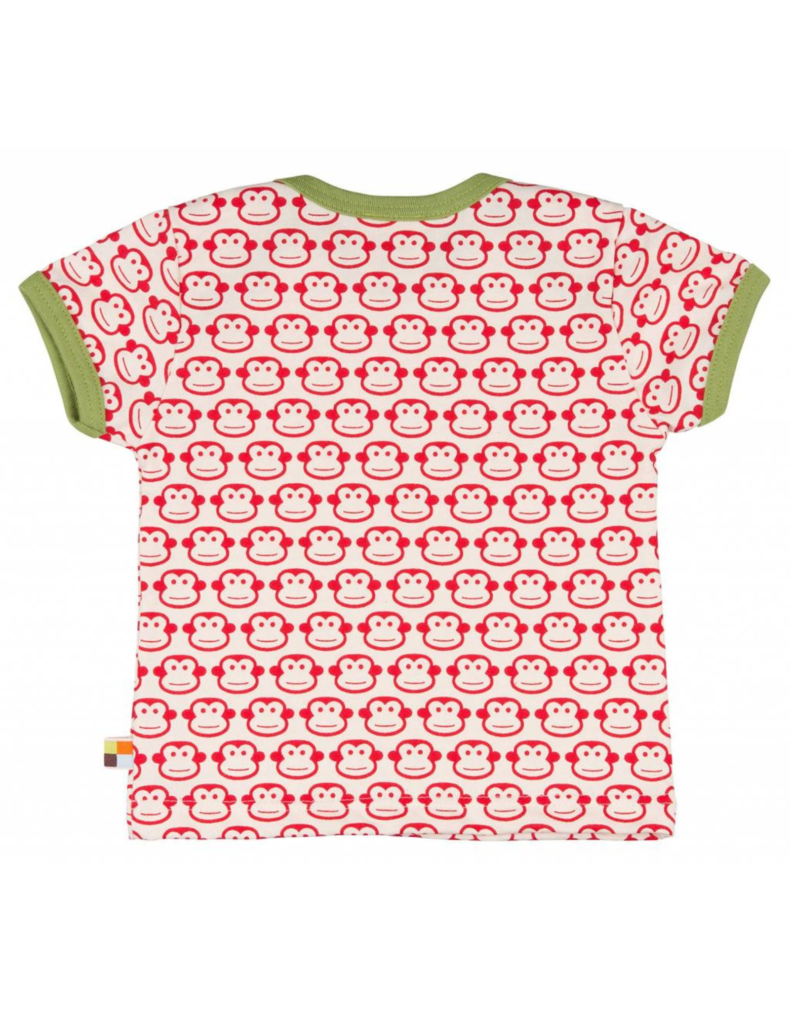loud+proud Kids t-shirt - red monkeys
