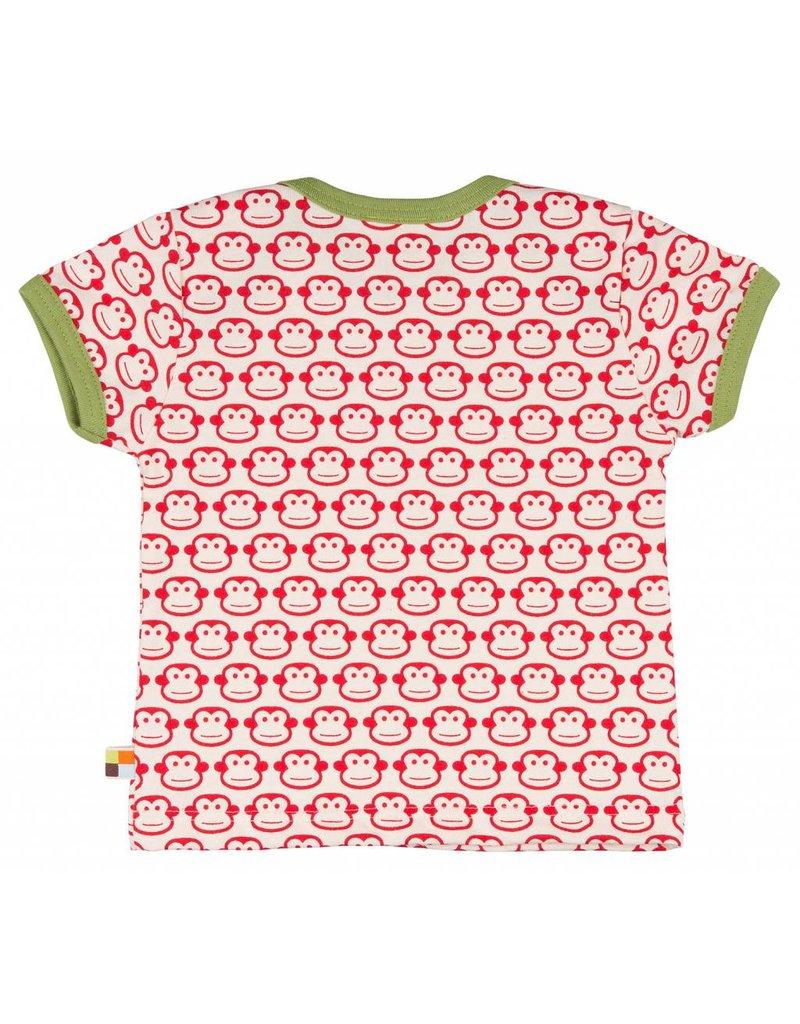 loud+proud Kinder t-shirt - rode apen