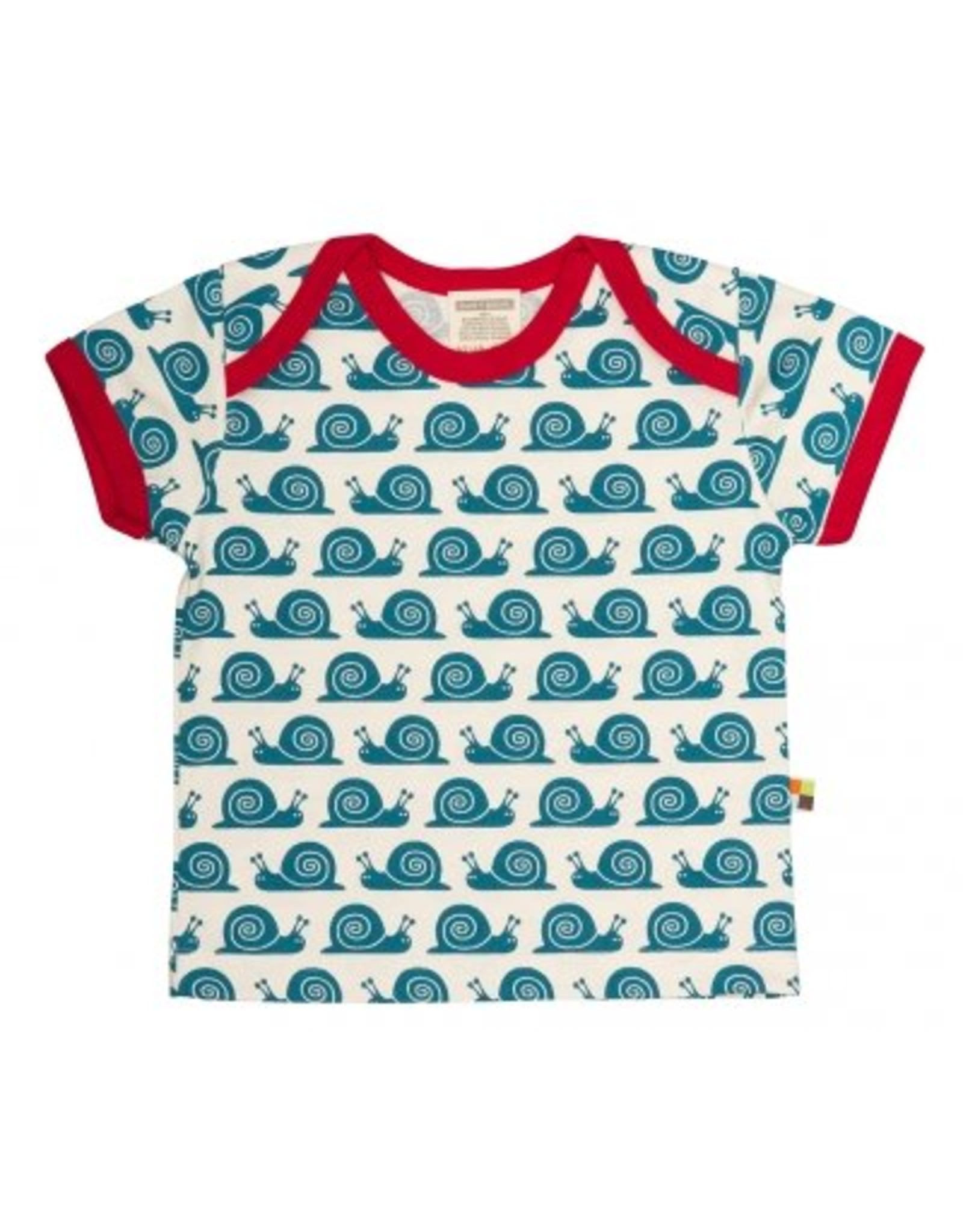 loud+proud Kinder t-shirt - blauwe slakken