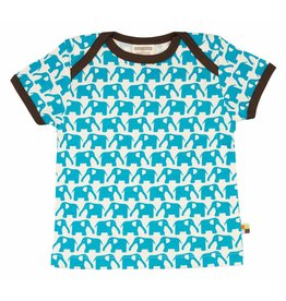 loud+proud Kids t-shirt - blue elephants