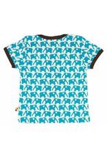 loud+proud Kinder t-shirt - blauwe olifanten