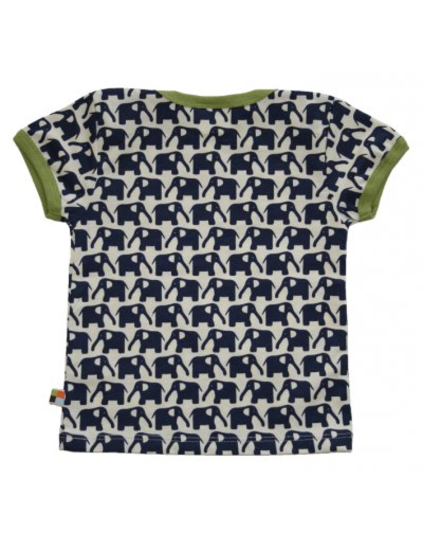 loud+proud Kids t-shirt - dark blue elephants