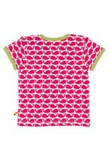 loud+proud Kinder t-shirt - roze walvissen