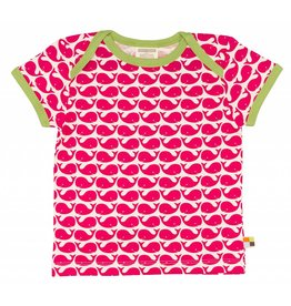 loud+proud Kids t-shirt - pink whales
