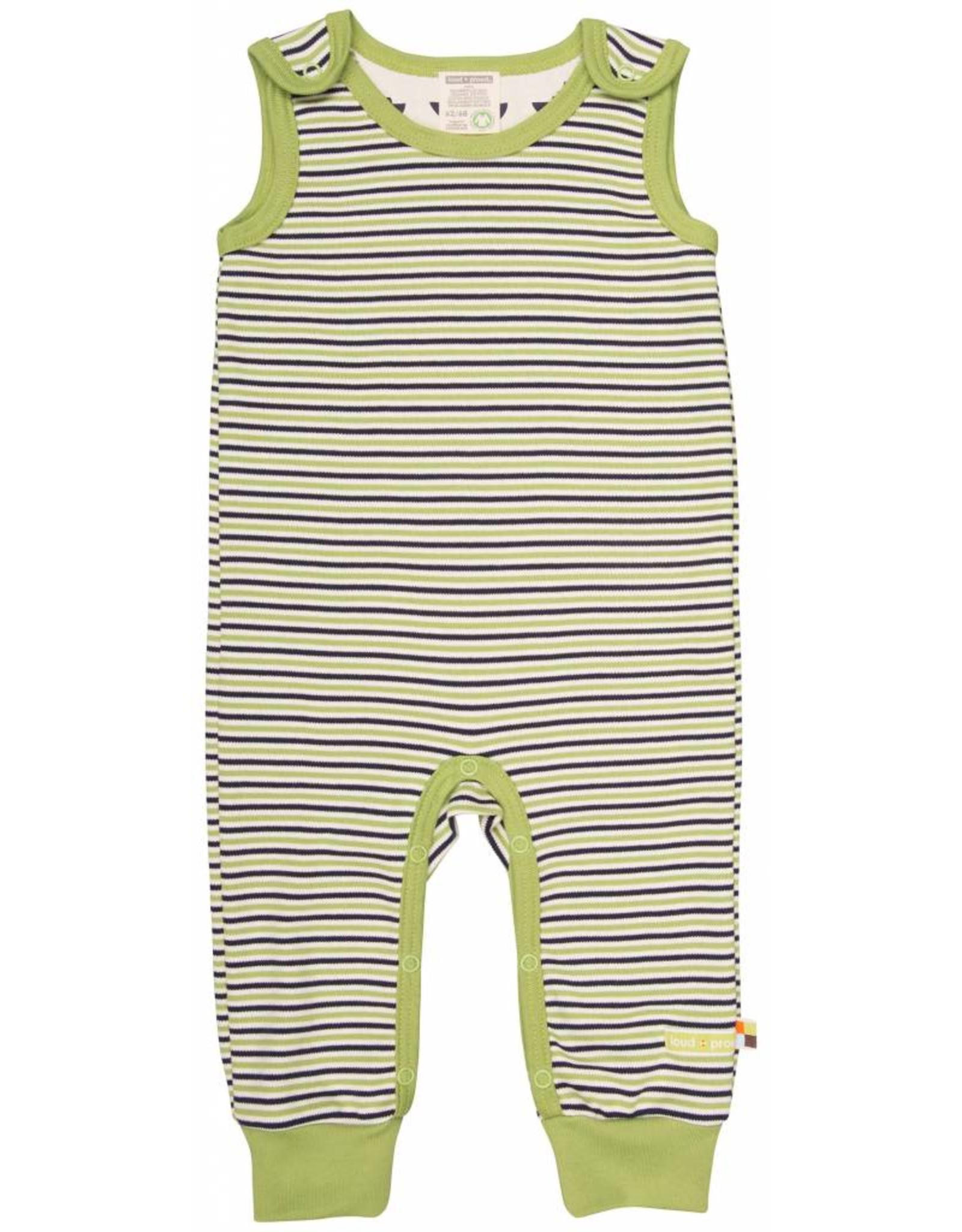 loud+proud Baby jumpsuit - groen gestreept