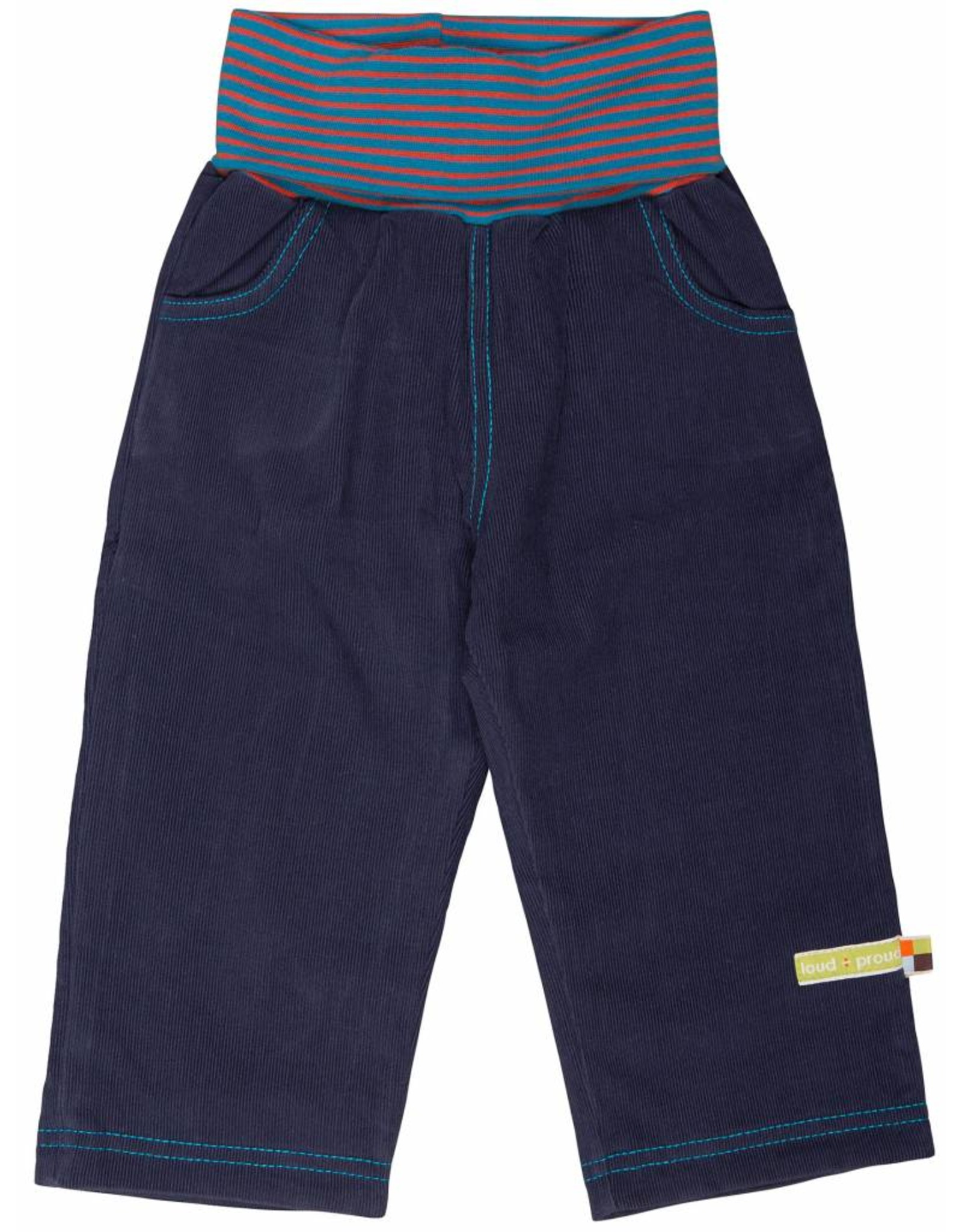 loud+proud Children's trousers - blue corduray