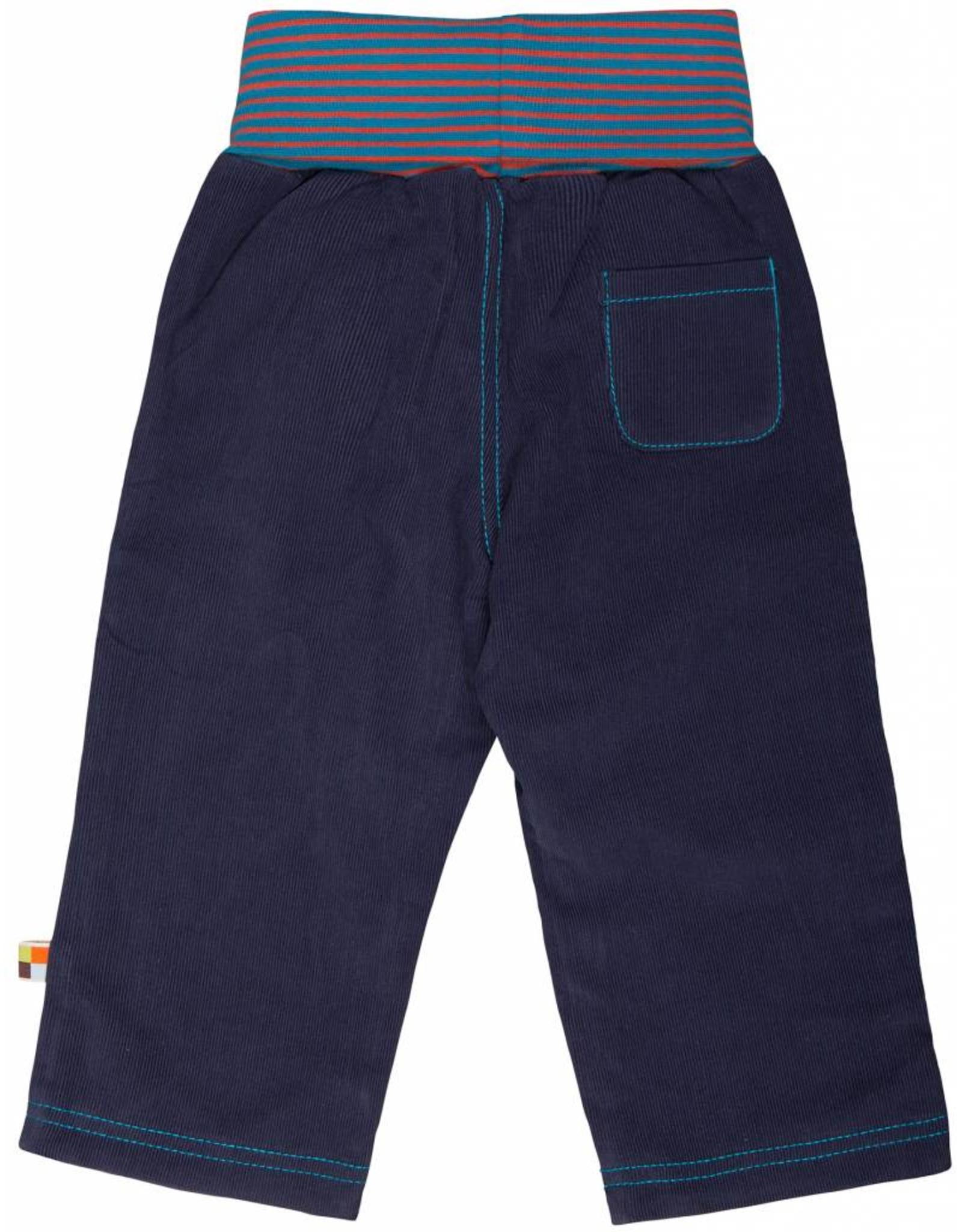 loud+proud Kinderbroek - blauw corduray