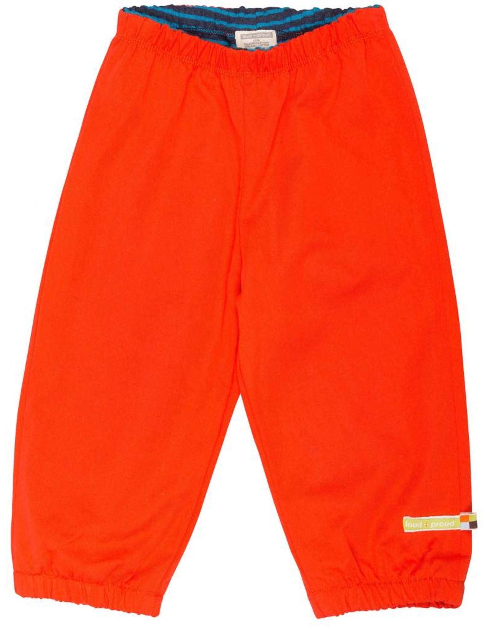 loud+proud Kinderbroek - waterwerend - oranje