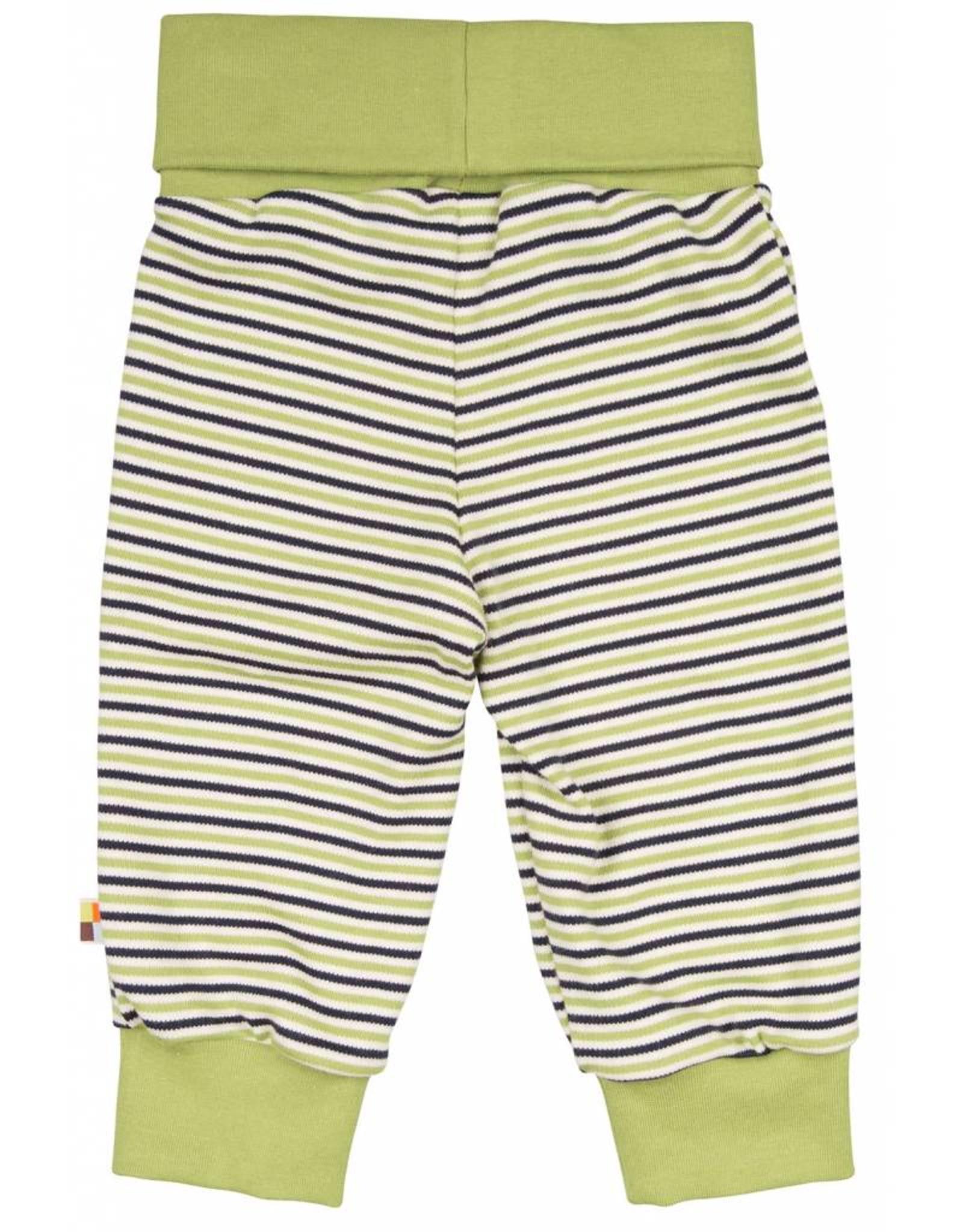 loud+proud Children's trousers - green striped