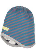 loud+proud Children's hat - blue orange - reversible