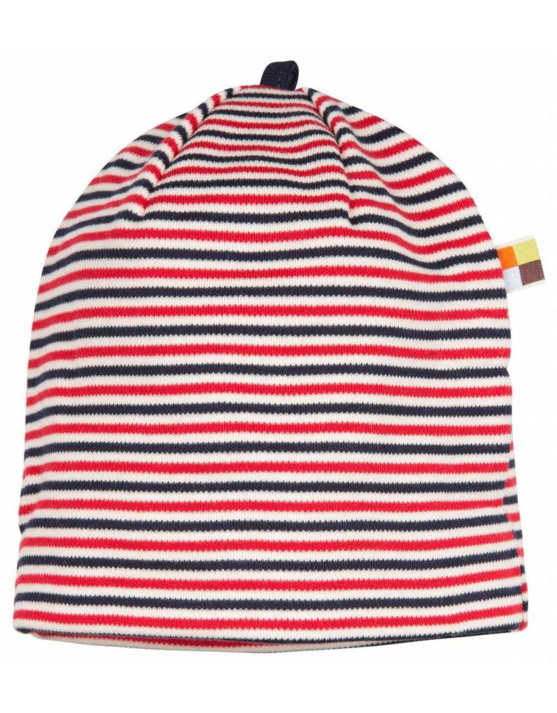 loud+proud Children's hat - red blue stripes