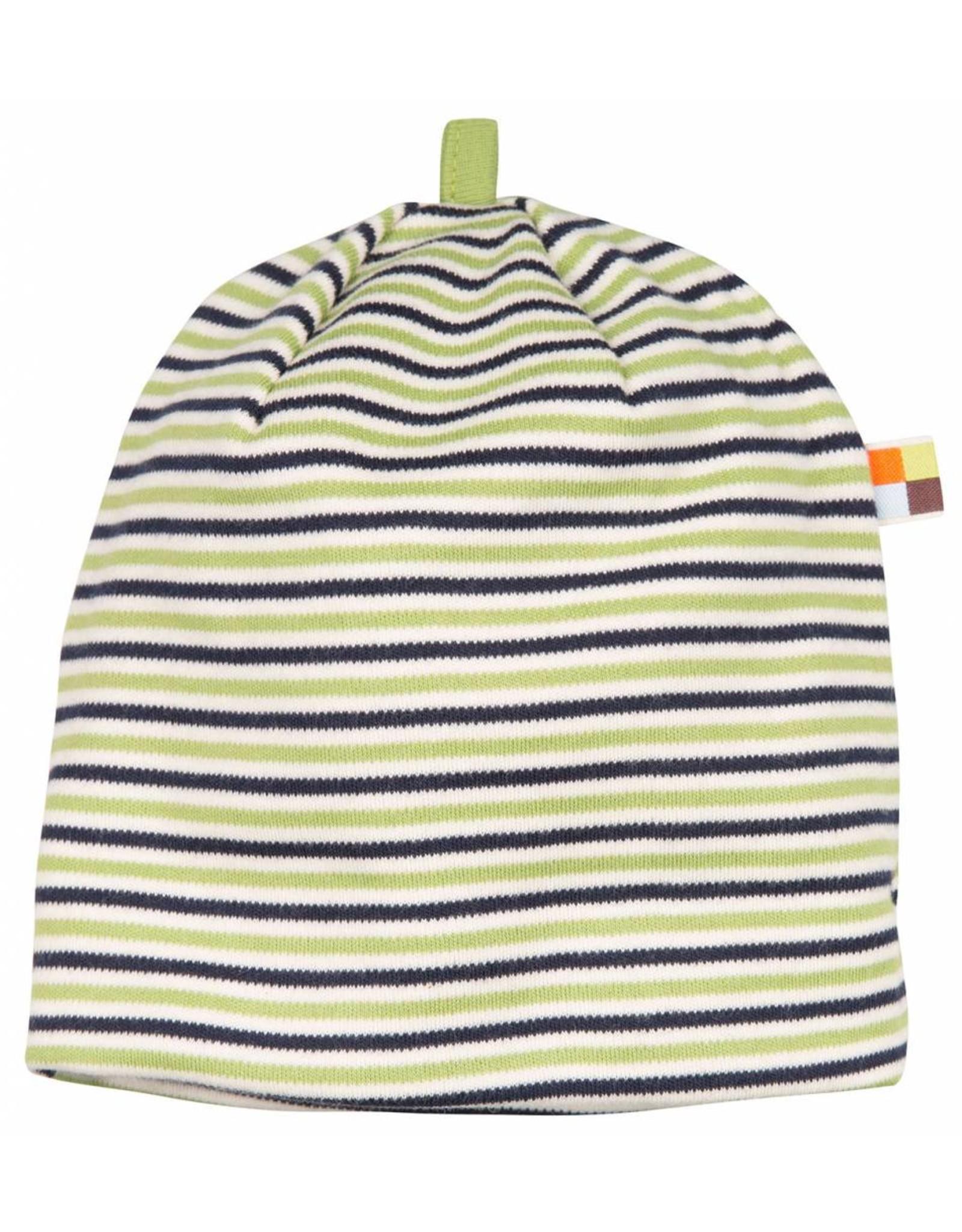 loud+proud Children's hat - green blue stripes
