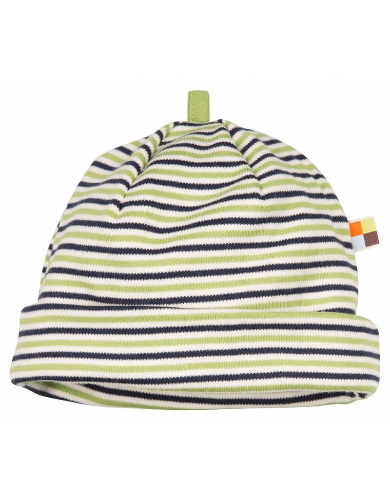 loud+proud Children's hat - green blue stripes