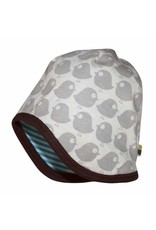 loud+proud Children's summerhat - blue with birds - reversible
