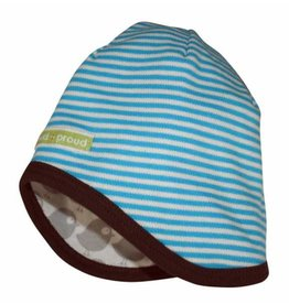 loud+proud Children's hat - blue with birds