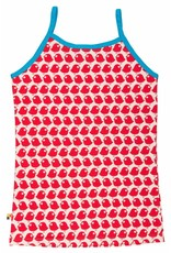 loud+proud Dames topje - rode vogels