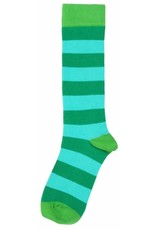 Duns Kids stockings - green blue striped