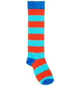 Duns Kids stockings - blue red striped