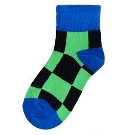 Duns Kinder sokken - blauw groene blokjes