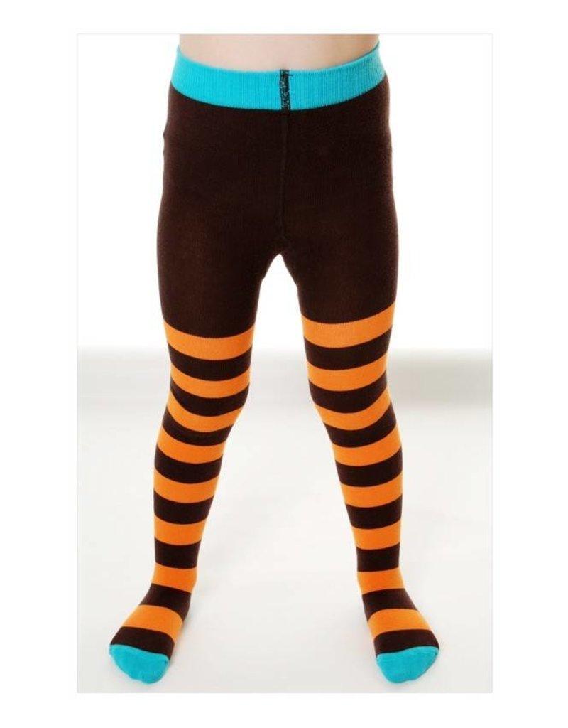 Duns Kinder maillots - oranje bruin gestreept