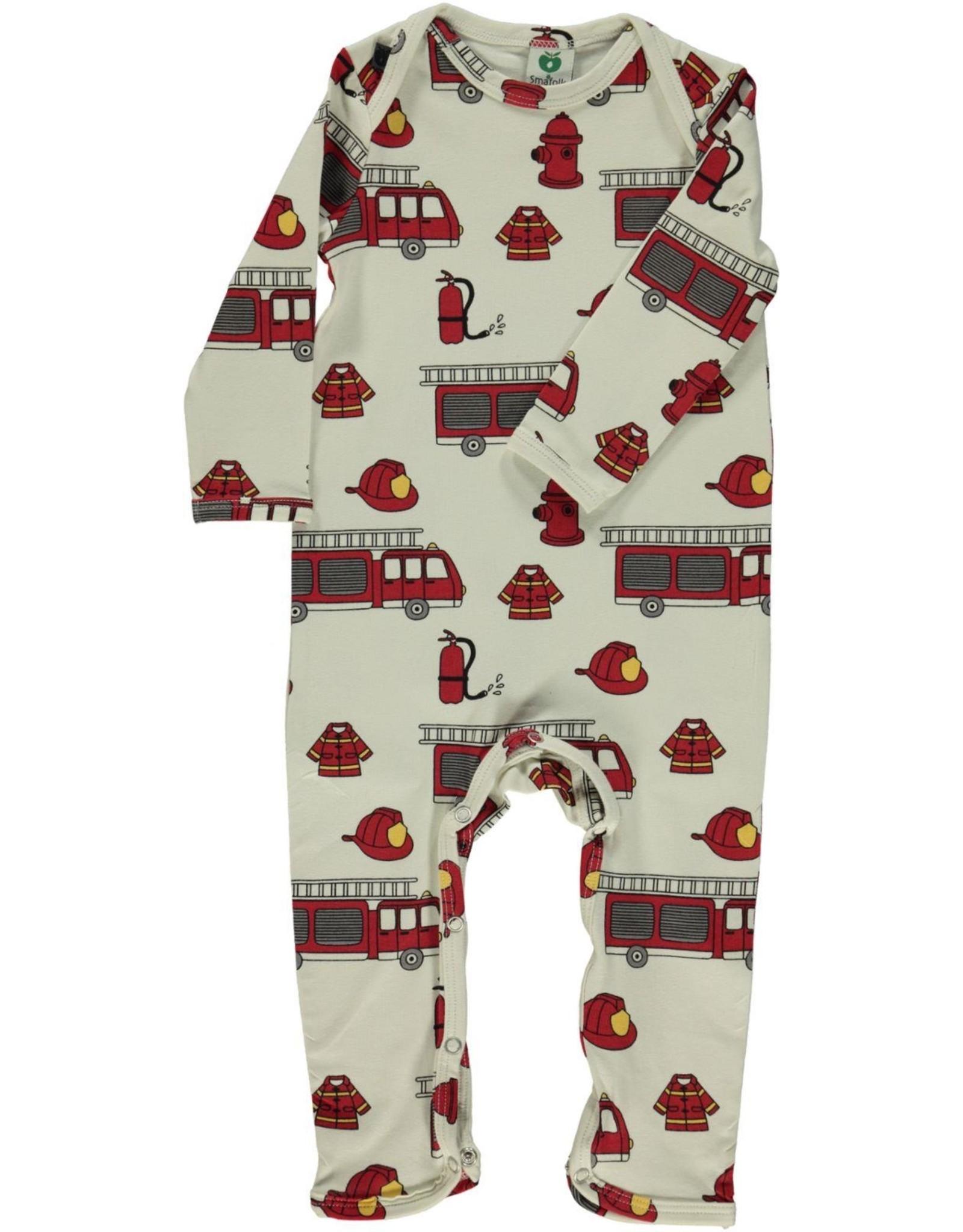 Smafolk Baby jumpsuit - crème brandweer