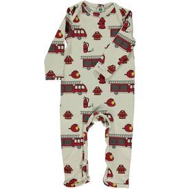 Smafolk Sleepsuit - white firetrucks