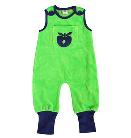 Smafolk Baby playsuit - green with apple