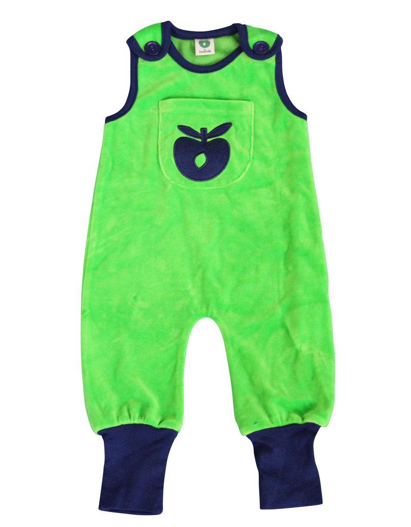 Smafolk Baby speelpakje - groen met appel
