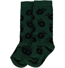 Smafolk Children's socks - dark green apples