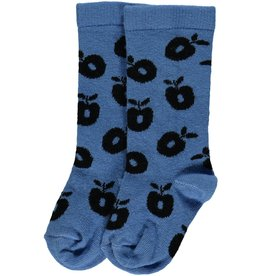 Smafolk Children's socks - light blue apples