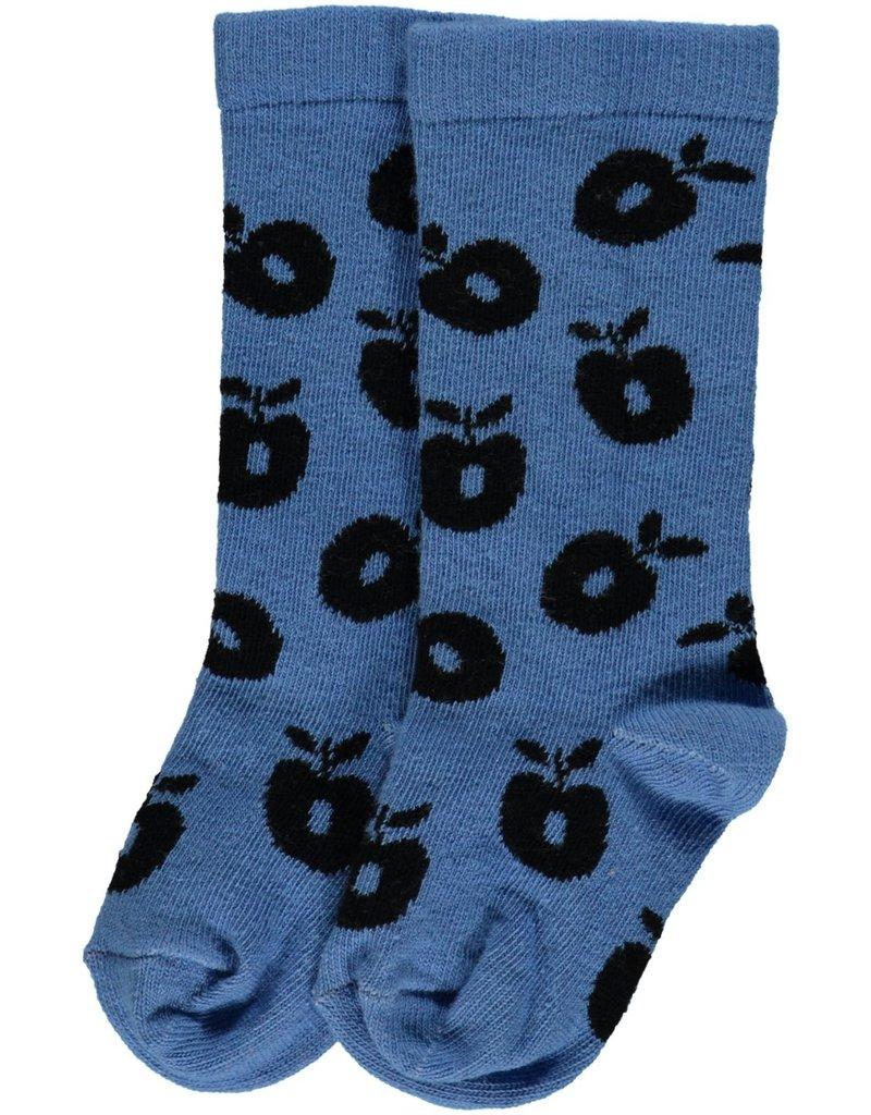 Smafolk Children's socks - light blue apples