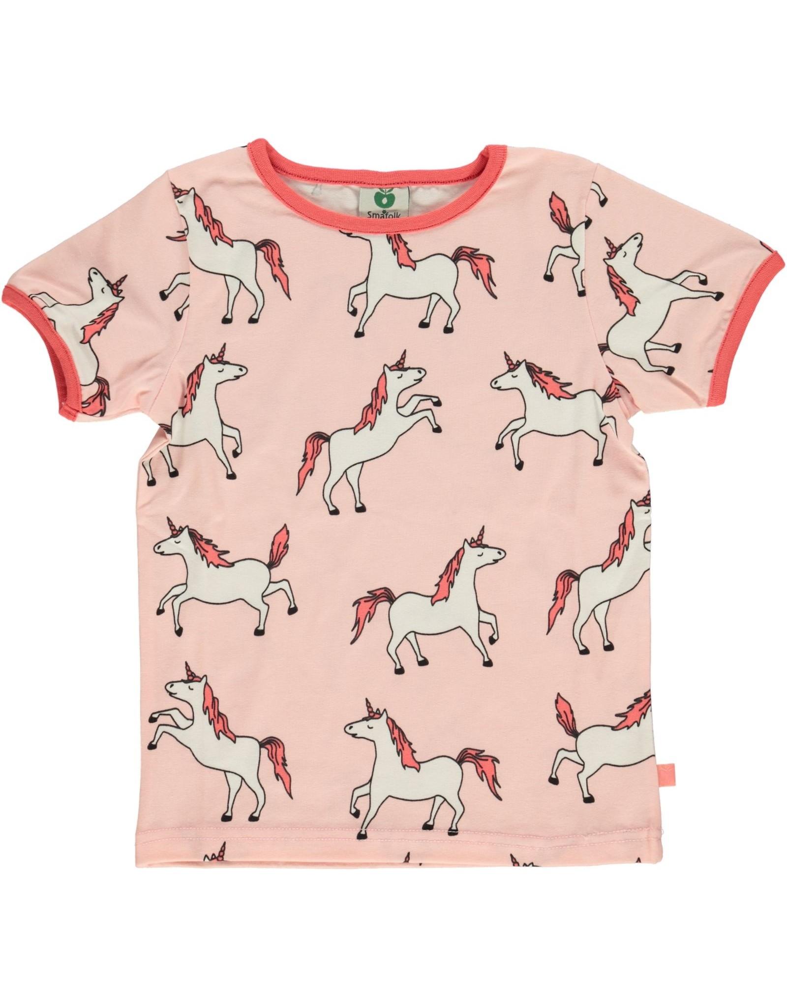 Smafolk Kids t-shirt - pink unicorns