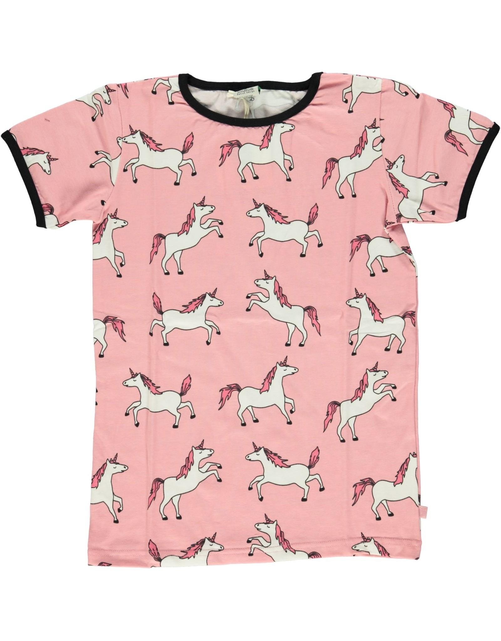 Smafolk Kinder t-shirt - roze eenhoorn