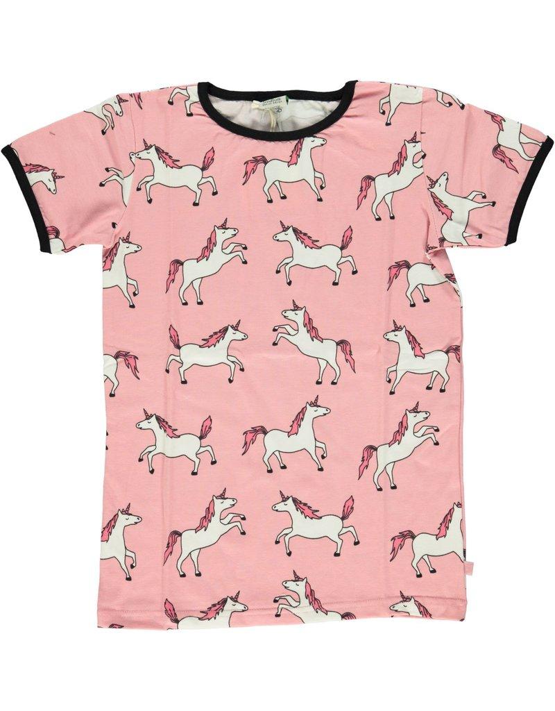 Smafolk Kids t-shirt - pink unicorn