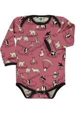 Smafolk Baby romper - roze pooldieren