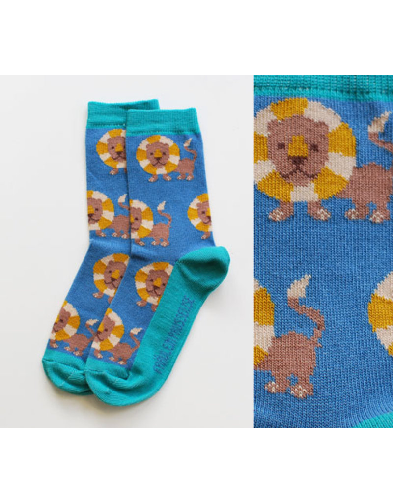 Fräulein Prusselise Children's socks - lions