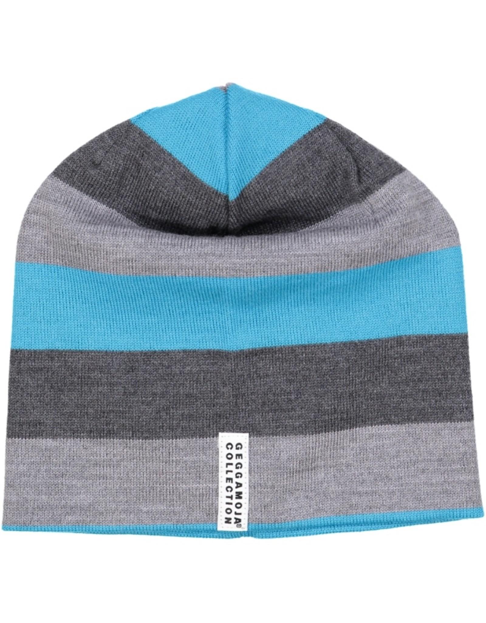 Geggamoja Wollen muts - grijs blauw