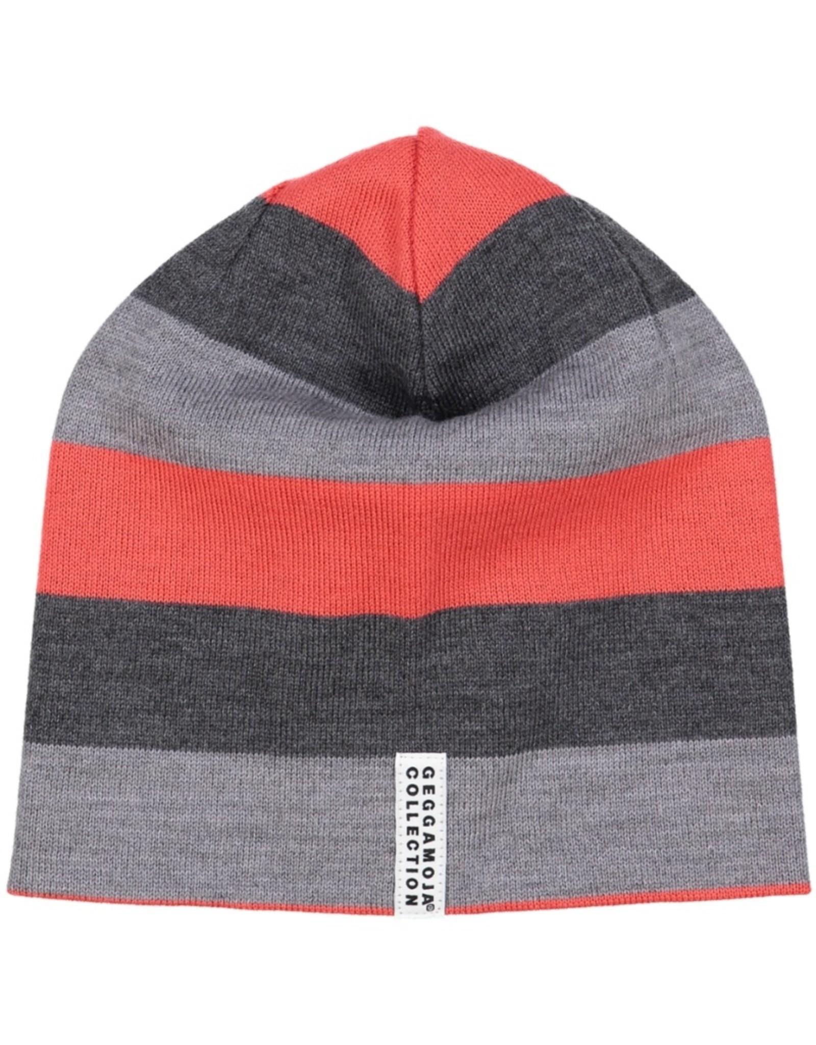 Geggamoja Woolen hat - grey red
