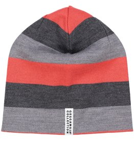 Geggamoja Woolen hat - grey red