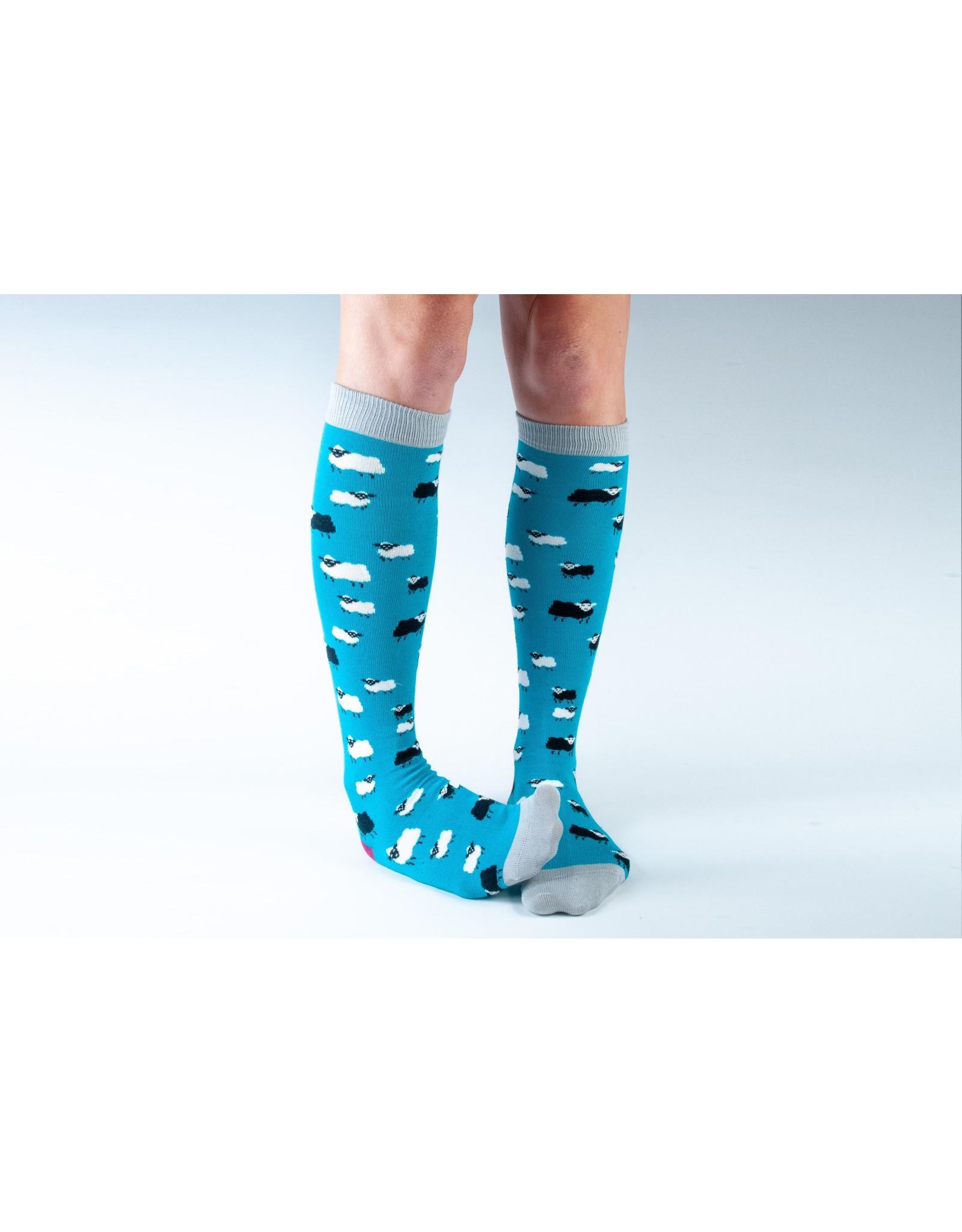 Doris & Dude Knee socks - Sheep (36-40)