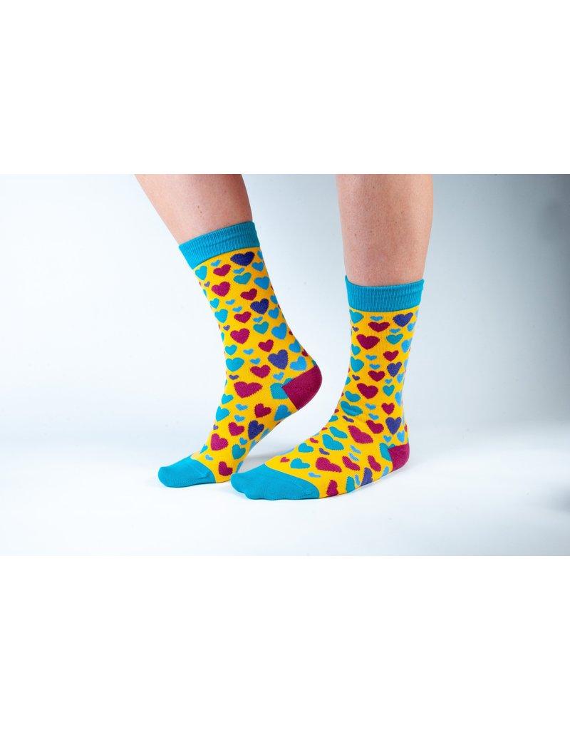 Doris & Dude Socks - hearts (36-40)