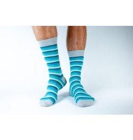 Doris & Dude Socks - blue stripes