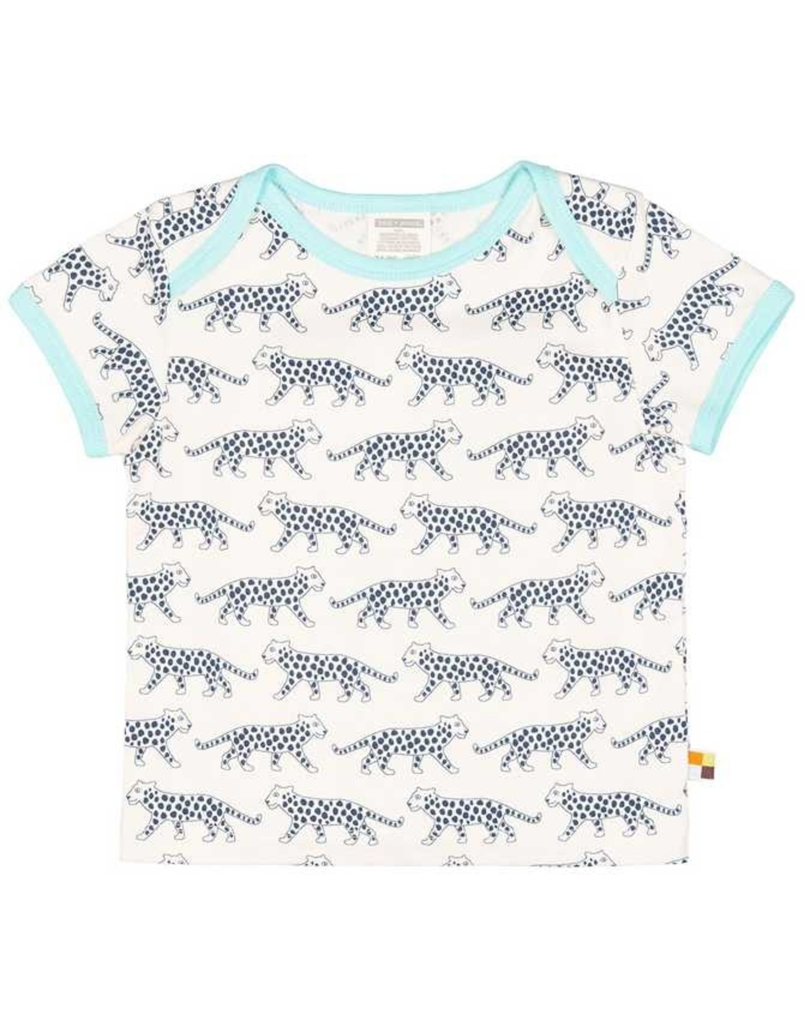 loud+proud Kinder t-shirt - blauwe luipaarden