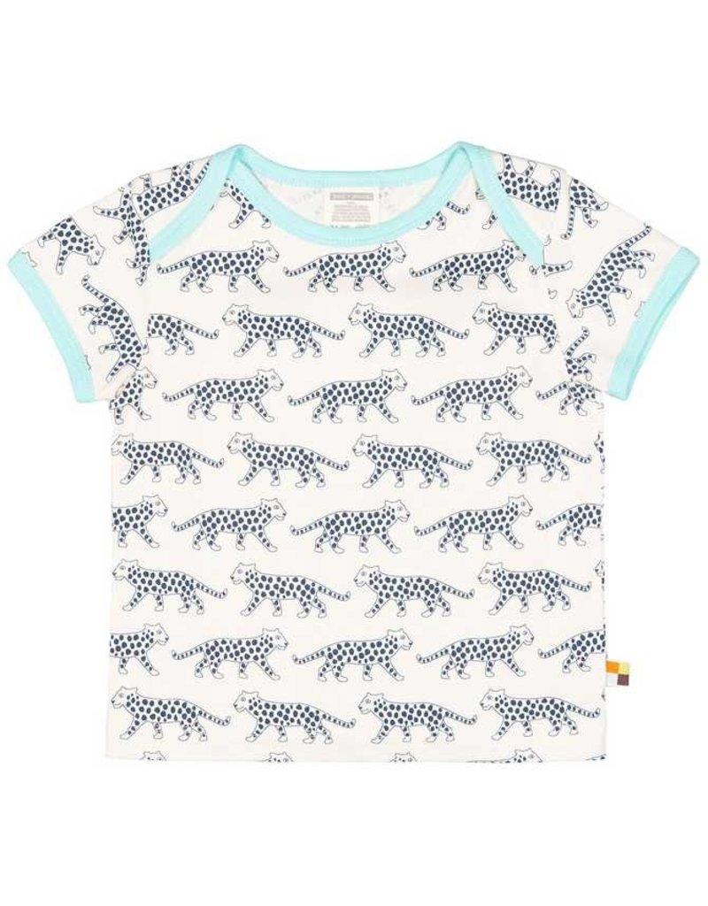 loud+proud Kids t-shirt - blue leopards