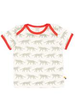 loud+proud Kinder t-shirt - olijf luipaarden