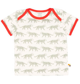 loud+proud Kids t-shirt - olive leopards